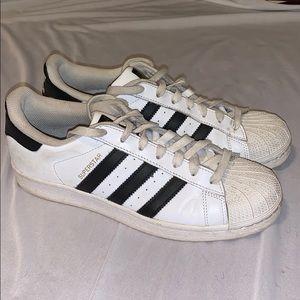 Adidas Superstars white and black size 7.5 men's